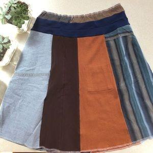 Boutique patchwork skirt